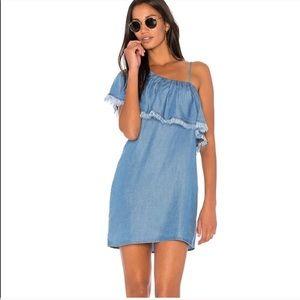 Splendid | Fringe One-Shoulder Shift Dress
